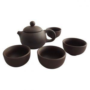 Japanse theepot porselein met kopjes